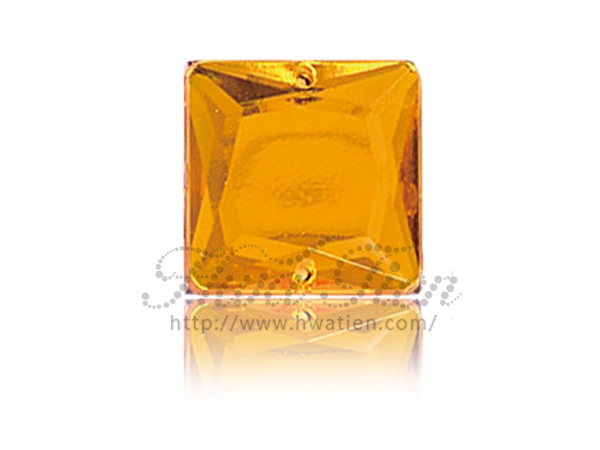 Square Acrylic Gems, Made by Hwa Tien Acrylic Gems Factory
